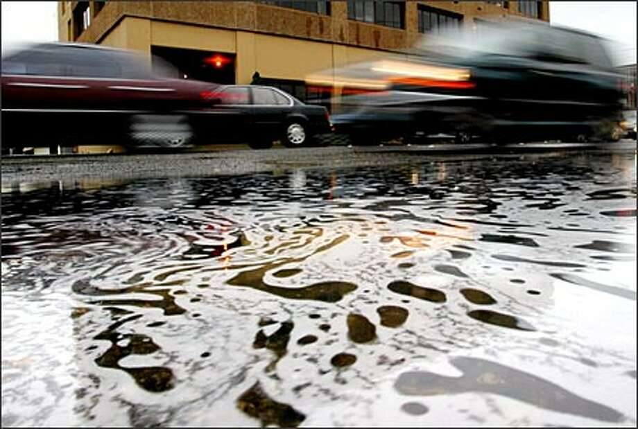 Stormwater enters Puget Sound through storm drains and carries with it toxic organics, heavy metals, bacteria, viruses, nutrients, oil and grease, pesticides and herbicides, and sewage. Photo: Paul Joseph Brown/Seattle Post-Intelligencer