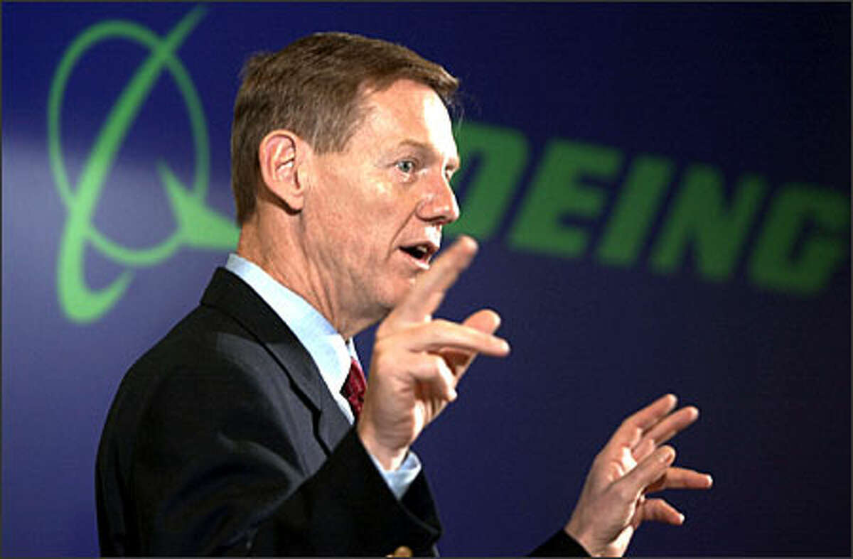 """If we can't figure out how to do it here competitively,"""" Boeing may choose to build its new plane elsewhere, says executive Alan Mulally."""