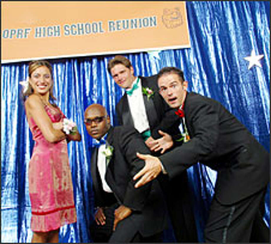 "Former classmates Maya Pingle, left, Jason Goodman, Ben Reb and Chris Eads in ""High School Reunion."" Photo: THE WB/RON DAHLQUIST"