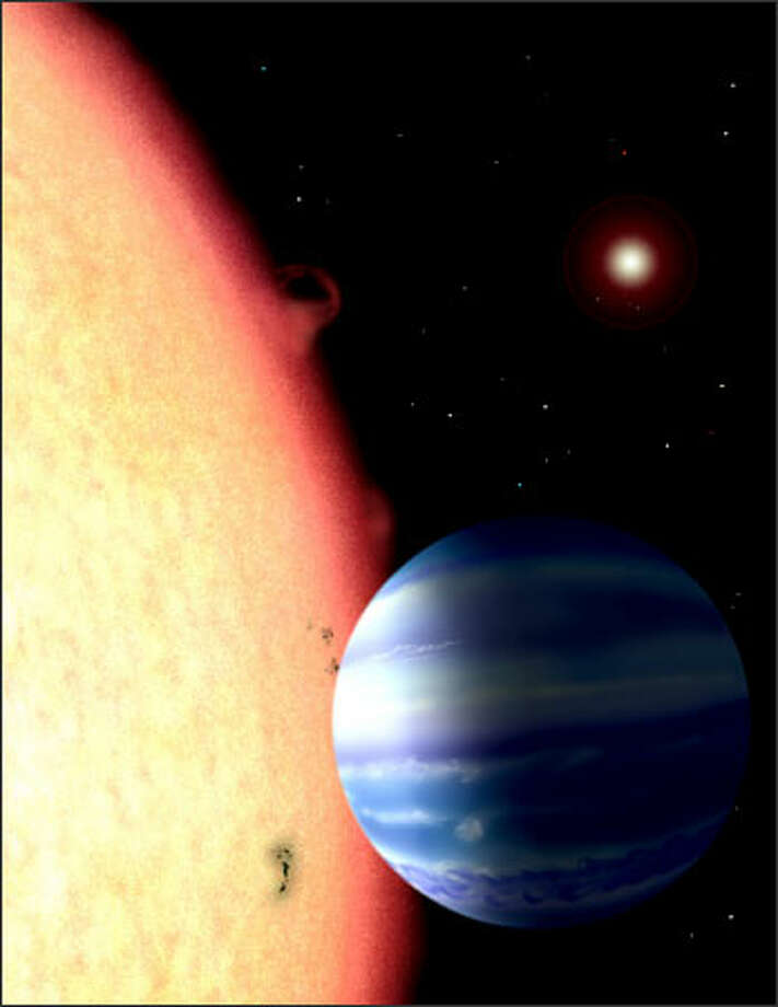 The farthest known planet ever discovered is about the size of Jupiter and circles its star every 29 hours. It is so hot there that it rains iron. DAVID AGUILAR ILLUSTRATION Photo: /