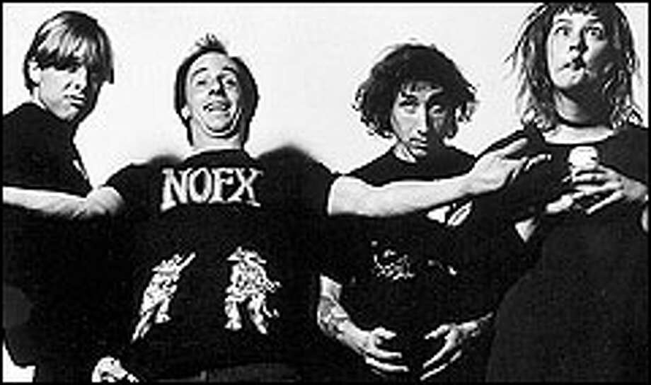 The Gits, from left, were: Steve Moriarty, Matt Dresdner, Joe Spleen and Mia Zapata.