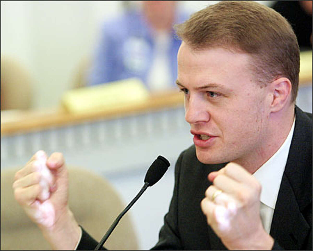 Initiative leader Tim Eyman has called opponents of his Initiative 976