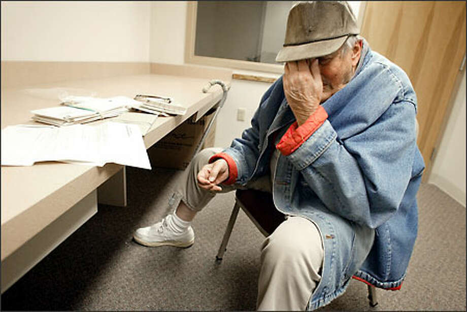 Jim Lowry, 88, is the oldest inmate in the Washington state correctional system. He is doing time for attempted murder and authorities say he is a suspect in two missing-person cases. He is shown here in the Ahtanum View Correctional Complex, a Department of Corrections assisted-living center in Yakima. Photo: Gilbert W. Arias/Seattle Post-Intelligencer