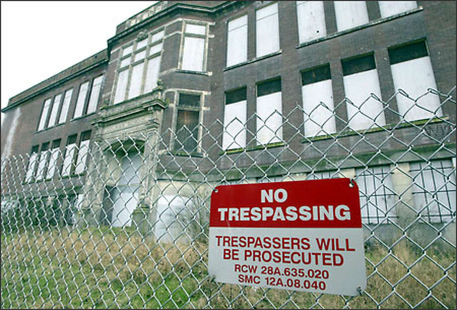 Built in 1909, the now-abandoned Colman School was the first school that many African American children attended in Seattle. It also was the first school with African American teachers. Photo: Jim Bryant/Seattle Post-Intelligencer