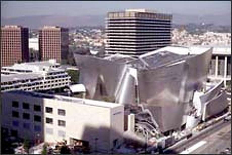 """Frank O. Gehry, architect for the Walt Disney Concert Hall, calls it """"a strange kind of sailing ship sitting in a box."""" Photo: F. Zignani"""