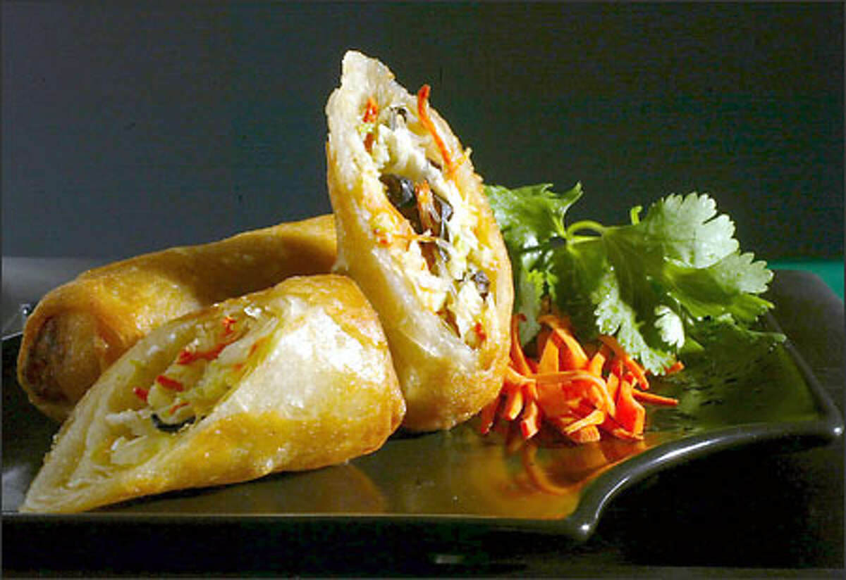 These spring rolls from a local Thai restaurant are glorified vehicles for sauce.