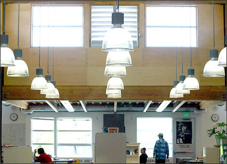 Clerestory windows allow students at Truman High School in Federal Way to enjoy more natural light. Photo: Mike Urban/Seattle Post-Intelligencer