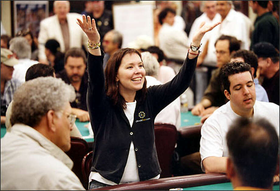 Annie Duke, 37, a mother of four, left Montana for the greener tables of Las Vegas. She's one of two women expected to contend for the World Series of Poker title. (Photo Courtesy of Annie Duke) Photo: /