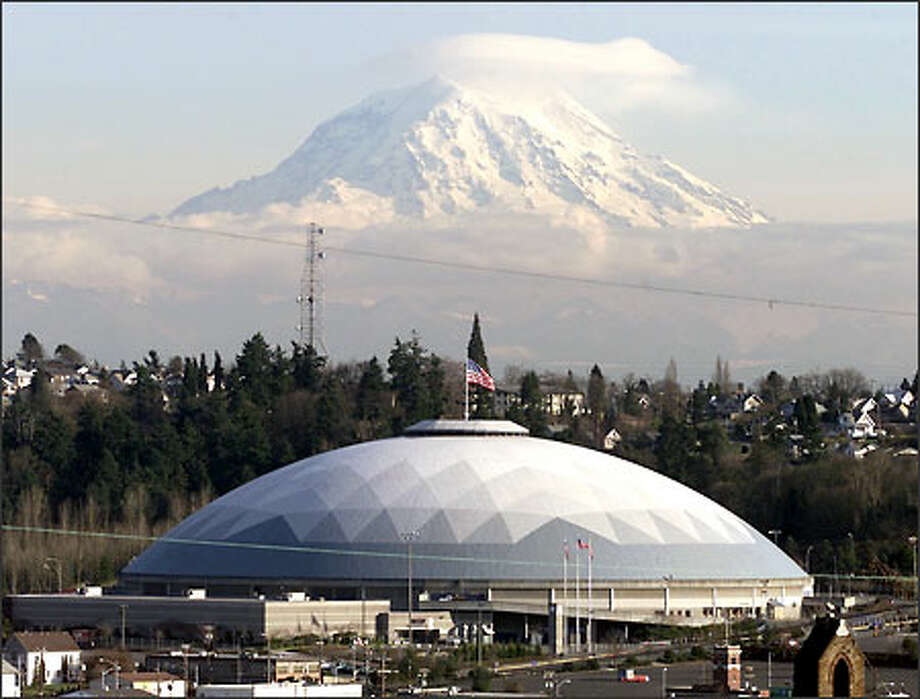 The City Council is going to have the Tacoma Dome spruced up as part of the city's attempts to lure corporate sponsorship for the building. Photo: / P-I File