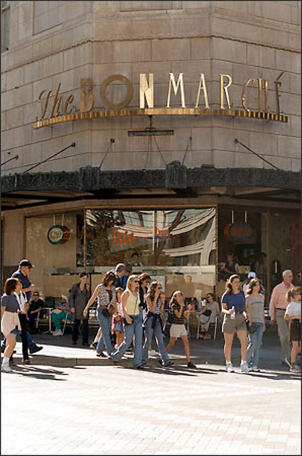 The Bon Marche will be renamed The Bon-Macy's in August and gain more marketing muscle, analysts say. Photo: / P-I File