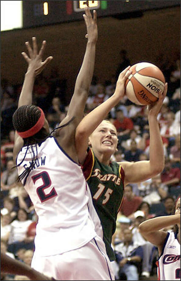 Lauren Jackson's 15 points weren't enough to help the Seattle Storm avoid a season-opening loss at Houston. Photo: BRETT COOMER/AP