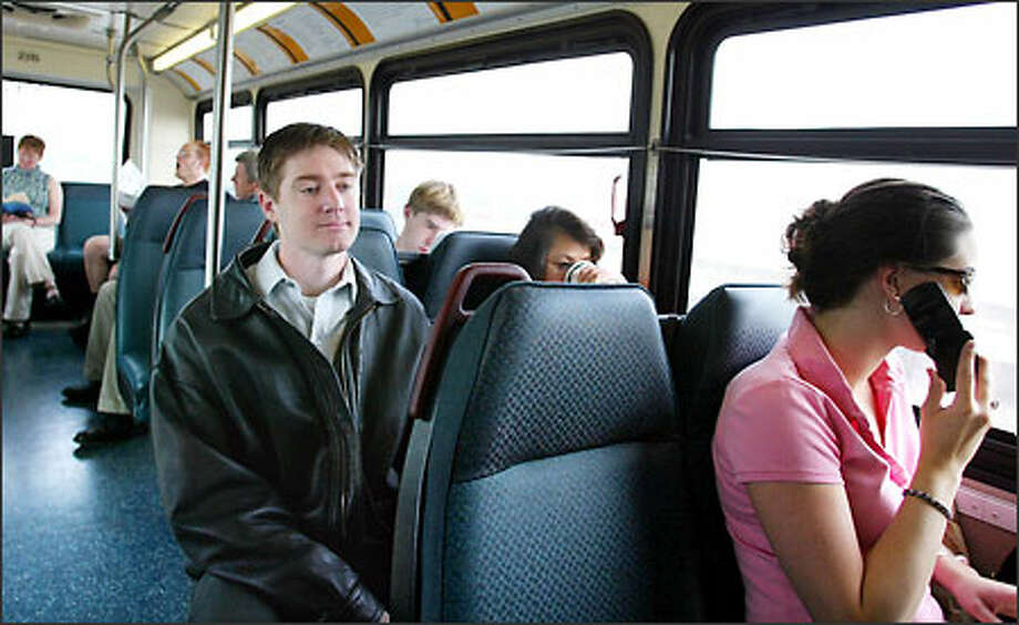 Jeffrey Wandasiewicz was smitten with a woman that rode his bus. He talked with her and figured he'd continue talking with her, but she disappeared. Or rather, she stopped riding his bus. Photo: Paul Joseph Brown/Seattle Post-Intelligencer