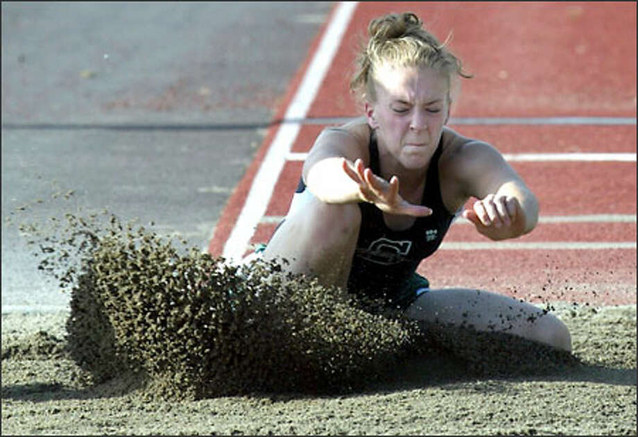 Christina Tupper ranks in the state's top three in three events -- the long jump, triple jump and 100-meter hurdles -- heading into the state championships today in Pasco. Photo: Grant M. Haller/Seattle Post-Intelligencer