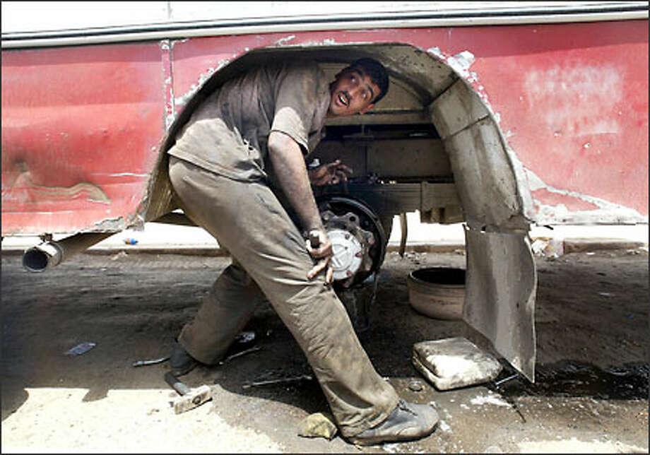 Faris Ajoubouri, Baghdad bus driver Photo: Dan DeLong/Seattle Post-Intelligencer
