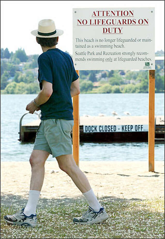 East Green Lake Beach is among the swimming areas in the city and county that will not have lifeguards this summer because of budget cuts. Neighboring cities have taken on some former county beaches. Photo: Paul Joseph Brown/Seattle Post-Intelligencer