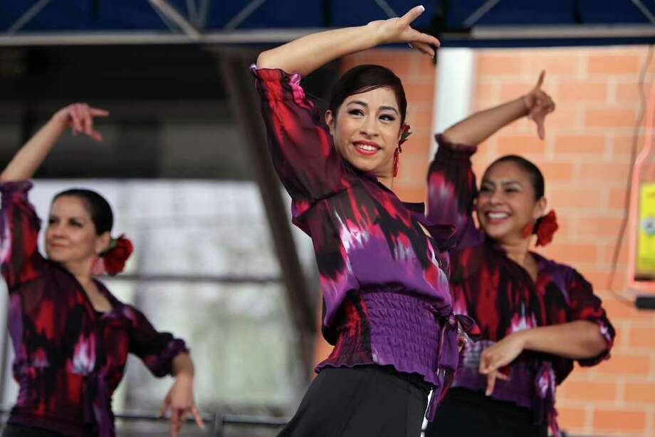Flamenco dancers from the Guadalupe Cultural Arts Center perform at the Paella Challenge at the Pearl Brewery, on Sunday, March 13, 2011. Photo: Jennifer Whitney/Special To The Express-News / special to the Express-News
