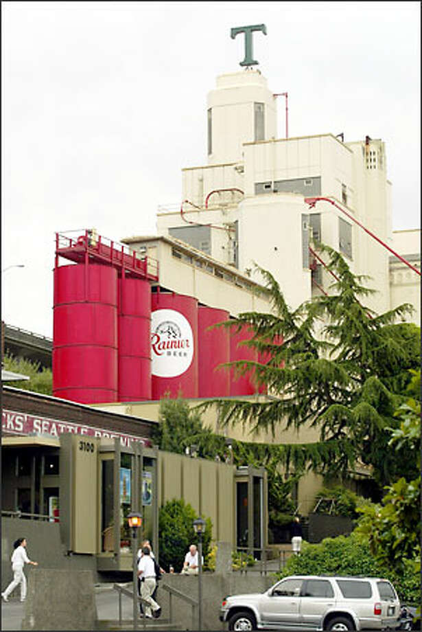 The old Rainier Brewery, now home to Tully's Coffee, may be sold by the Benaroya Co. to Ariel Development. Photo: Phil H. Webber/Seattle Post-Intelligencer