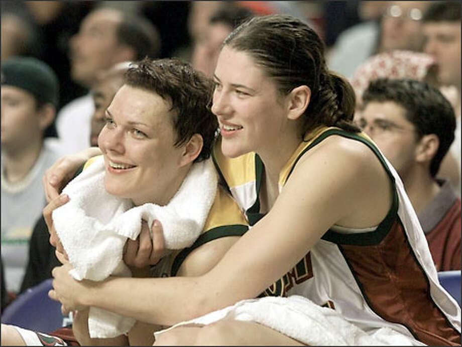 The Storm's surge has coincided with improved play by Kamila Vodichkova, left, with Lauren Jackson. Photo: JOHN FROSCHAUER/AP