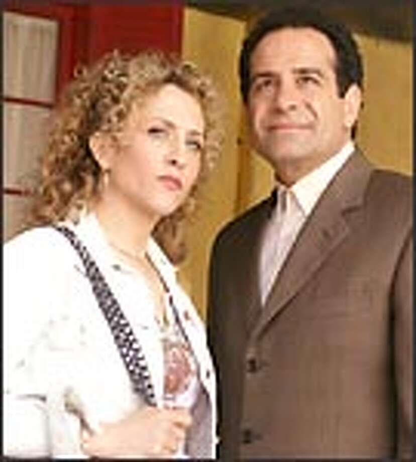 "Adrian Monk (Tony Shalhoub, right) and Sharona (Bitty Schram) tackle new mysteries as ""Monk"" begins a new season."