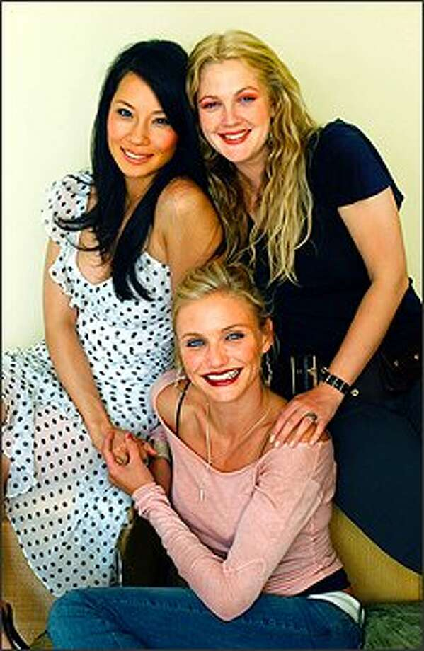 """(Clockwise from upper left) Lucy Liu, Drew Barrymore and Cameron Diaz play the lead roles in """"Charlie's Angels: Full Throttle"""" / AP"""