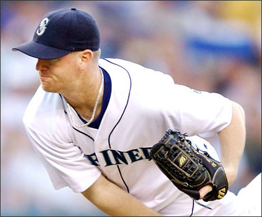 Ryan Franklin is one of five Mariners with 90 or more innings pitched. No other American League team has more than three. Photo: / Associated Press