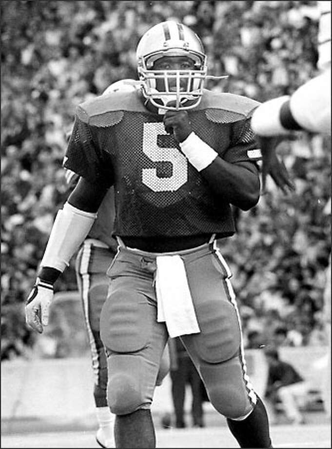 Fred Small, an undersized linebacker at 6-feet, 230 pounds, was a four-year UW letterman and an All-Pac-10 Conference selection in 1984. Photo: / P-I File
