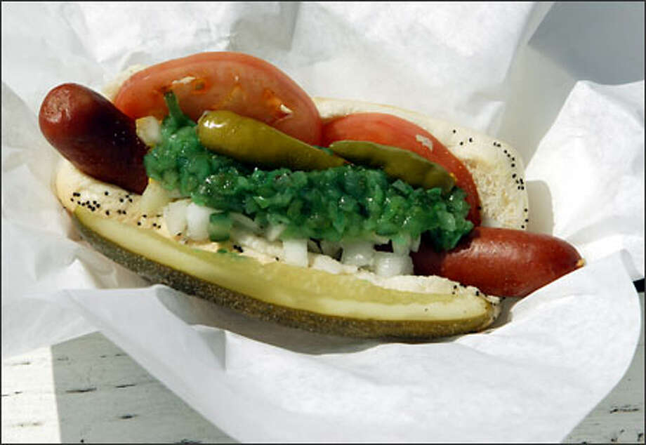 The Old Fashioned at Matt's Famous Chili Dogs is a Vienna Beef all-beef hot dog served Chicago-style. Photo: / P-I File