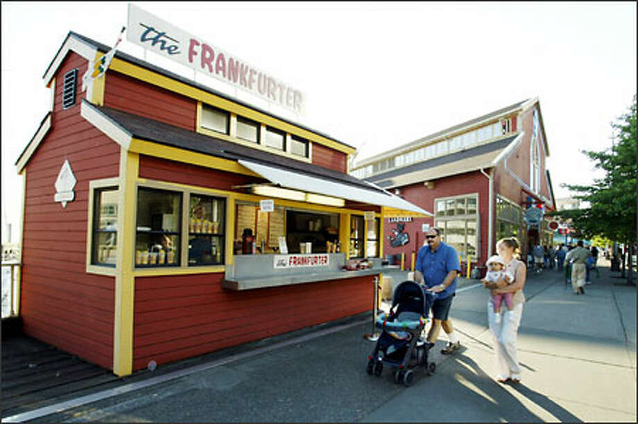 For a winning wiener, restaurant critic Penelope Corcoran says stop at The Frankfurter at 1023 Alaskan Way, Pier 54. Photo: Meryl Schenker/Seattle Post-Intelligencer