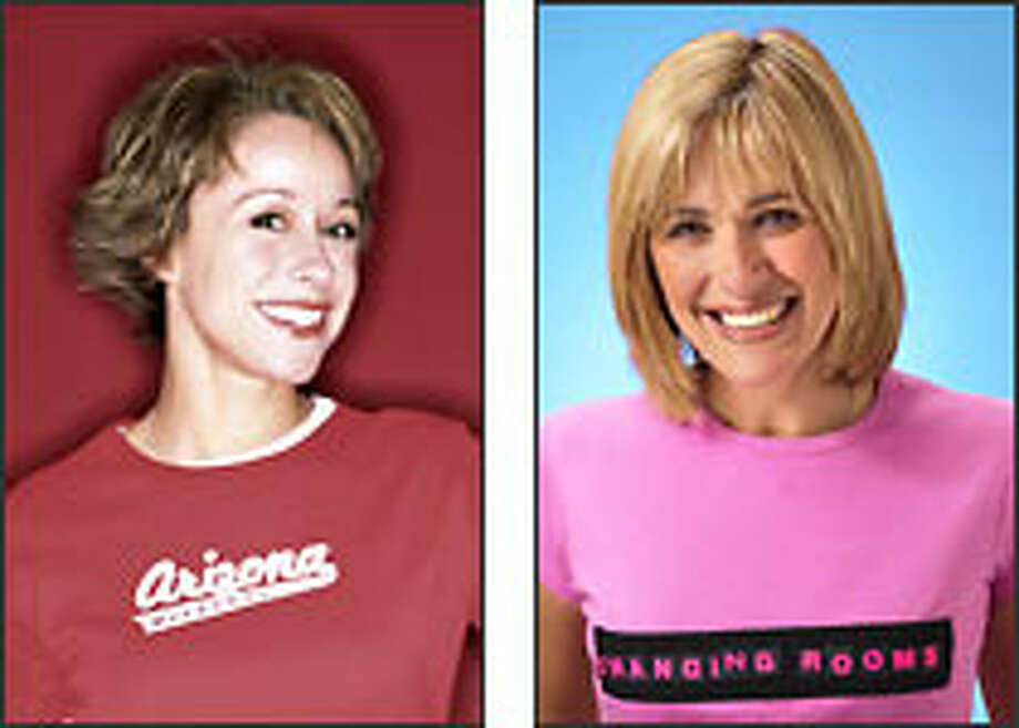 """""""Trading Spaces"""" host Paige Davis, left, and """"Changing Rooms"""" host Carol Smillie."""