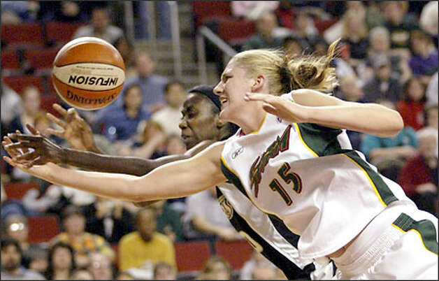 Lauren Jackson is all business on the court, banging opponents and and pounding in a WNBA-best 19.7 points per game. Photo: / Associated Press