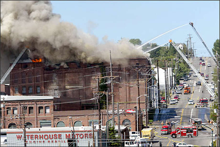 Firefighters Battle A Blaze At The Alpine Cold Storage Co Building In Downtown Tacoma Yesterday