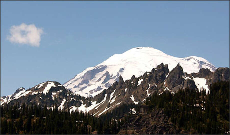 A shot of Mount Rainier from the Chinook Pass highway shows why the mountain is a favorite of photographers. Photo: Jeff Larsen/Seattle Post-Intelligencer