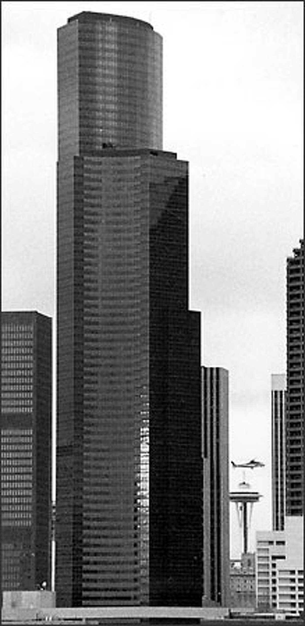 The Lindsey-designed Columbia Seafirst Center, now known as the Bank of America Tower, was a monolith when it opened in 1985.