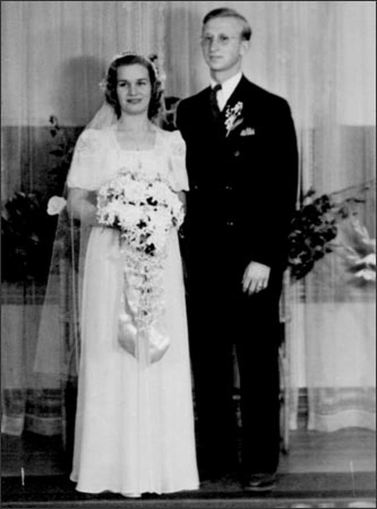 Marguerite and Kenneth W. Ambrose on their wedding day, June 1, 1940.