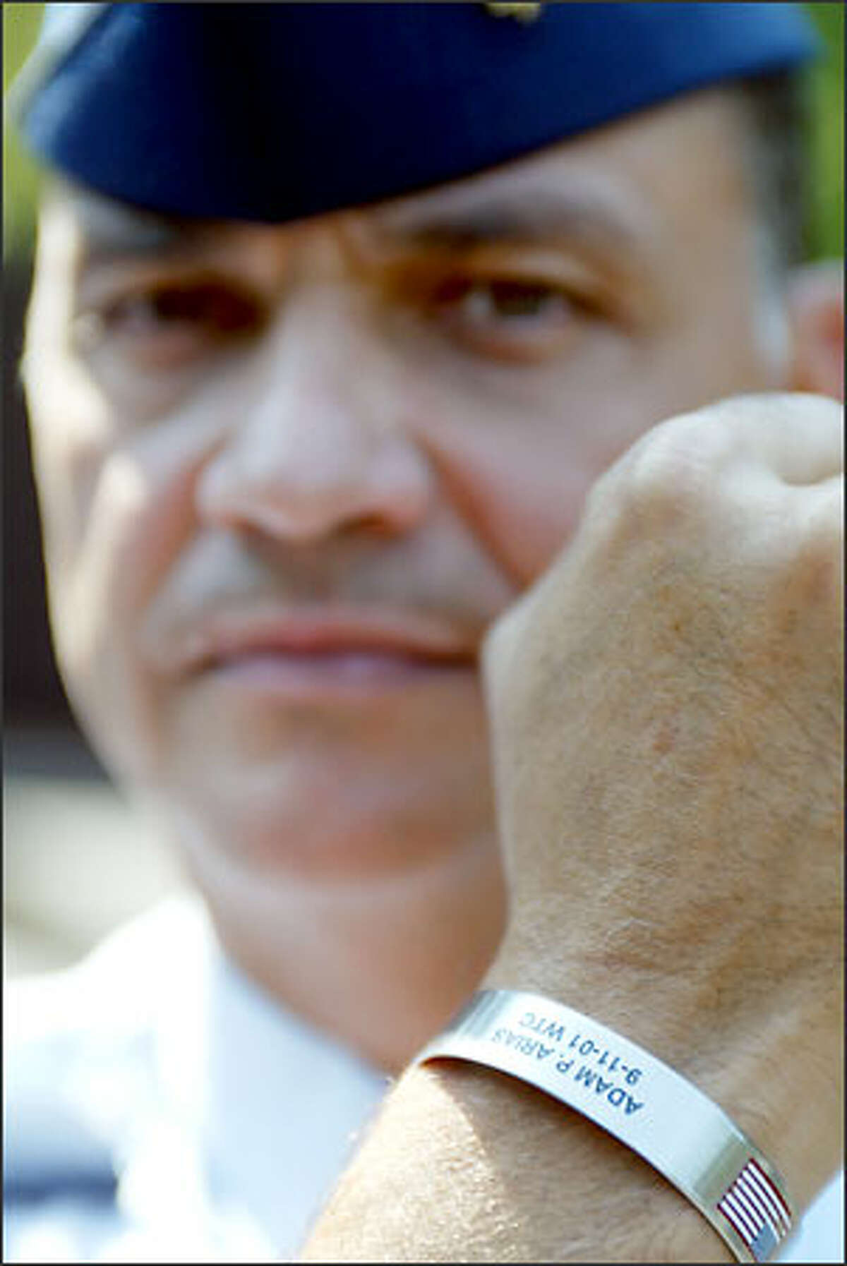 Maj. Don Arias was on the phone on 79/11 with his brother, Adam Arias, who was killed in the attack.