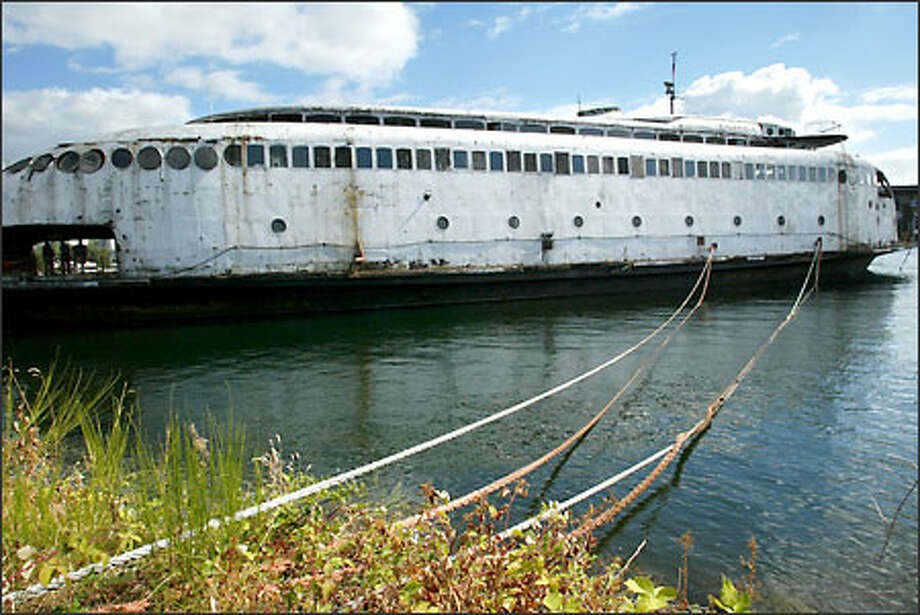 The ferry Kalakala awaits its final fate. Photo: Paul Joseph Brown/Seattle Post-Intelligencer