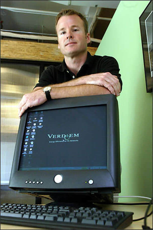 Verdiem Chief Executive Steven Sperry says his product, The Surveyor Network Energy Manager, sells itself. Photo: Phil H. Webber/Seattle Post-Intelligencer