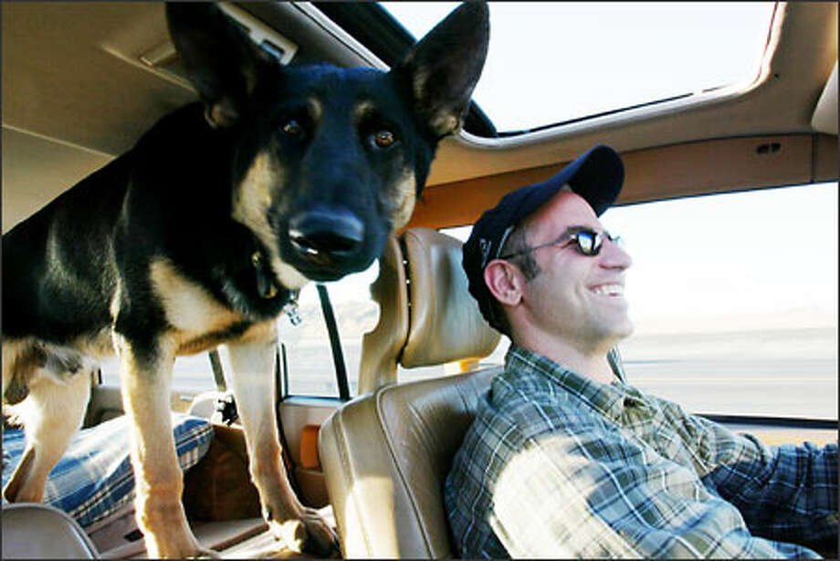When visits with local veterinarians resulted in no improvement in Milo's condition -- painful limping following exercise -- and before proceeding with costly surgery, owner Ravicz and his young charge hit the road to Pullman for a final consultation with specialists at the College of Veterinary Medicine. Photo: Paul Joseph Brown/Seattle Post-Intelligencer