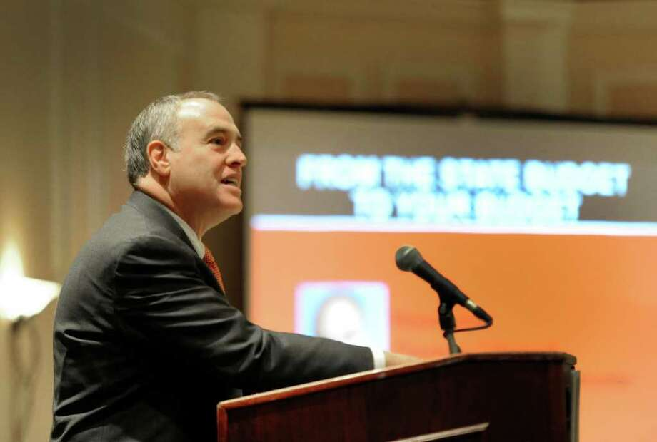 State Comptroller Thomas P. DiNapoli spoke to the New York State School Boards Association at the Crowne Plaza in Albany, New York March 14, 2011on the subject of the State Budget.  (Skip Dickstein / Times Union) Photo: SKIP DICKSTEIN / 2008