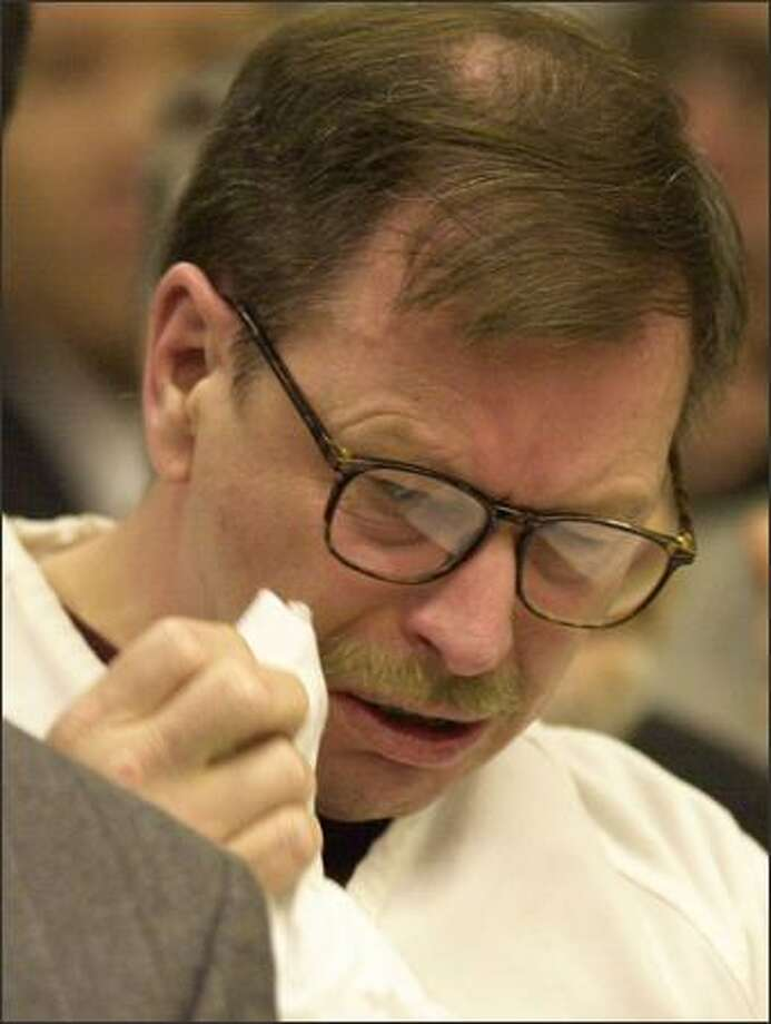 "Gary Ridgway apologized ""for putting a scare in the community"" and will spend the rest of his life in solitary confinement for murdering 48 women. Photo: AP"
