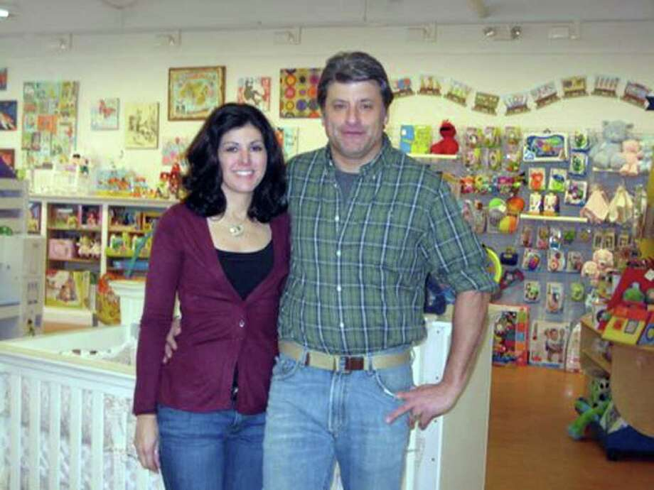 Rich and Carie Turk are the owners of Simply Baby and Kids in Newtown. Photo: Sybil Blau / The News-Times Freelance