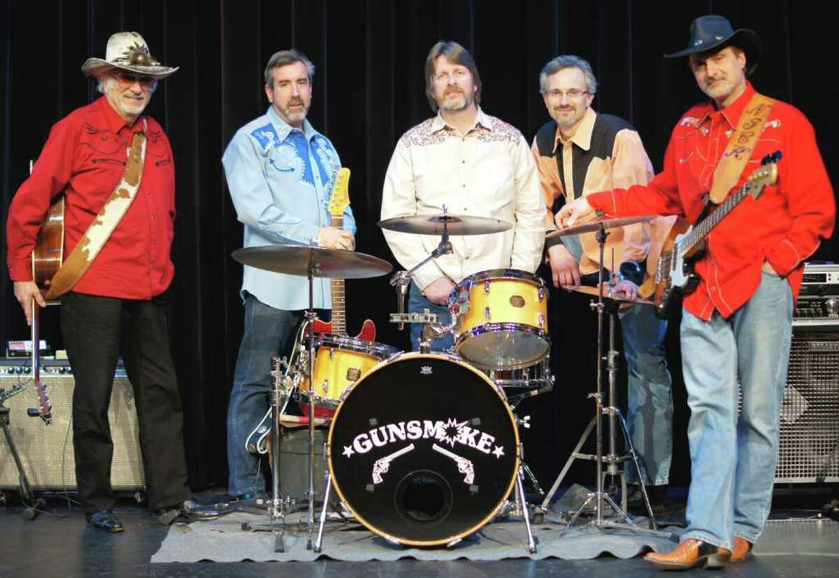 The members of the band Gunsmoke, Nick DeMaio, Scott Tyler, Gary Tokarz, and Nick's sons, Jeff and Nick, will be performing at a benefit for the Music for Hope charitable foundation. The event will be at the Piedmont social club in Darien, March 26. Their appearance and those of other performers will help to raise funds for area cancer organizations.