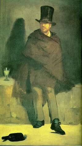 "Manet was the first great painter to paint a real absinthe drinker — a bum, says absinthe expert and author Barnaby Conrad III, in the documentary ""Absinthe."" The equivalent, he says, would be Andy Warhol painting someone shooting up with heroin. Photo: Contributed Photo / Greenwich Citizen"