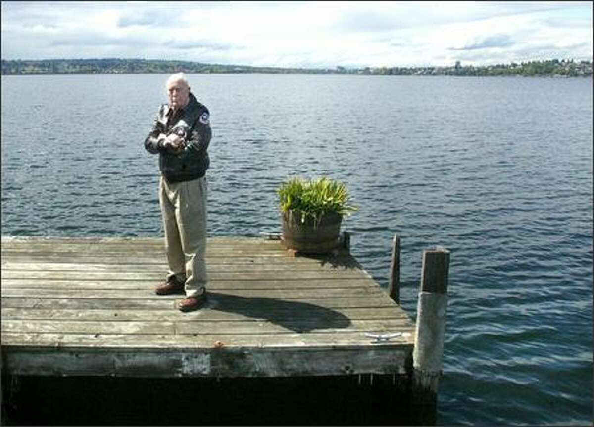 William Johnson says some of the speed boats that zoom past his home in Medina on Lake Washington are just too loud.