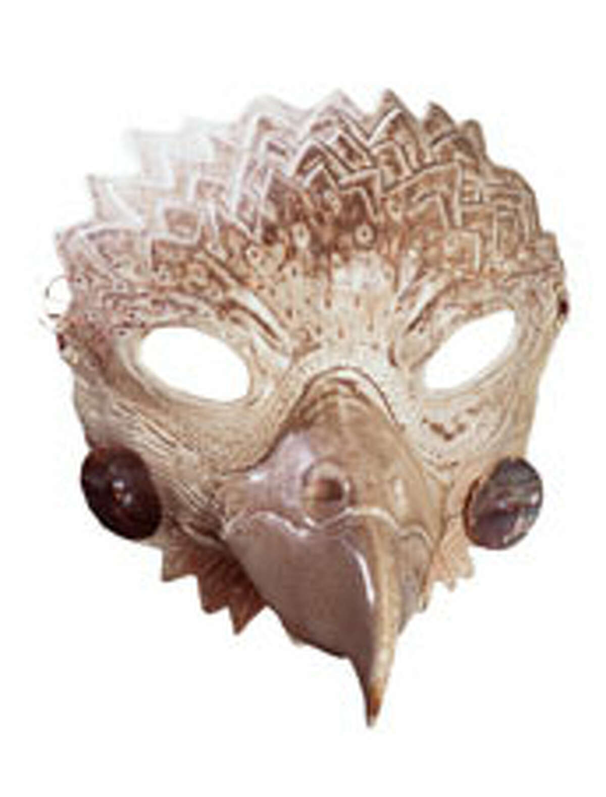 """Lillian Pitt's work includes this fired wood mask titled """"Eagle Spirit"""" from 1999."""