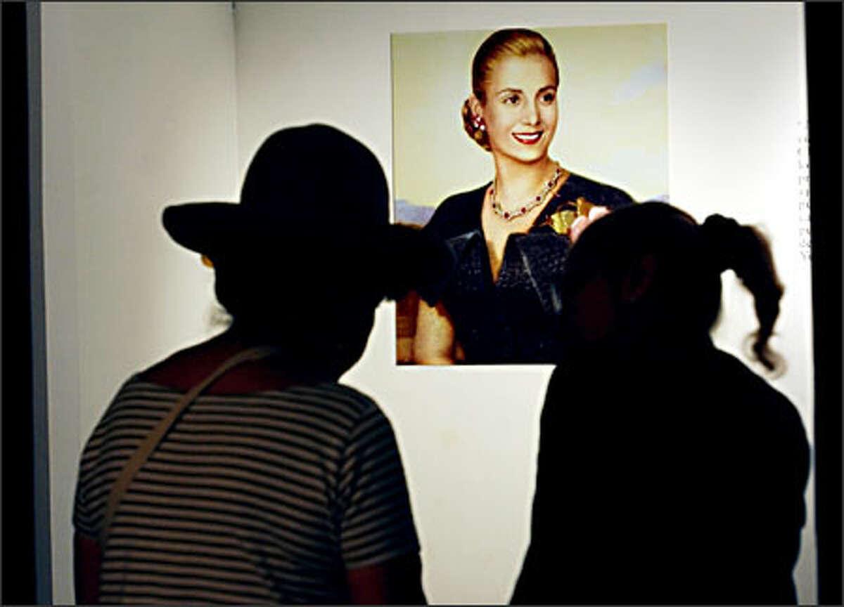 Visitors tour the Museo Evita, a lavish new government-supported shrine.