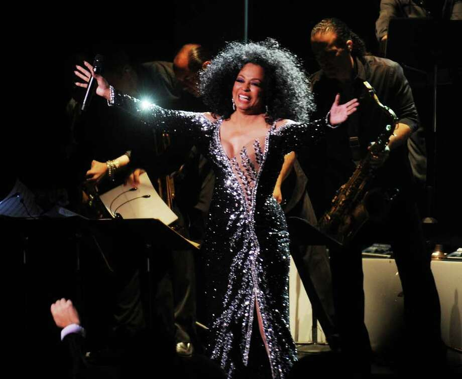 Singer Diana Ross performs at New York City's Radio City Music Hall in May. Ross will perform a benefit concert at Stamford Center for the Arts Palace Theatre in Stamford on Friday, March 18, where she also will be honored with an Arts Legacy Award. For ticket information, call 203-325-4466. (Photo by Stephen Lovekin/Getty Images) Photo: Stephen Lovekin, Getty Images / 2010 Getty Images