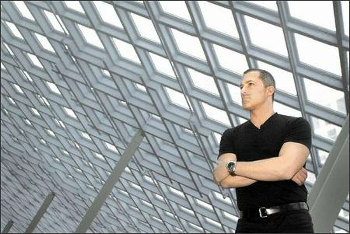 Architect Joshua Ramus, photographed on the 10th floor of the new Seattle Public Library on Sunday, May 2, 2004.