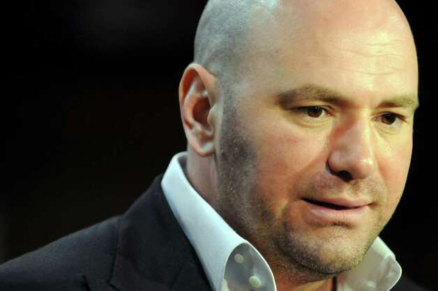 Ultimate Fighting Championship president Dana White speaks to the media on Tuesday, March 15, 2011, at the Washington Avenue Armory in Albany, N.Y. (Cindy Schultz / Times Union) Photo: Cindy Schultz