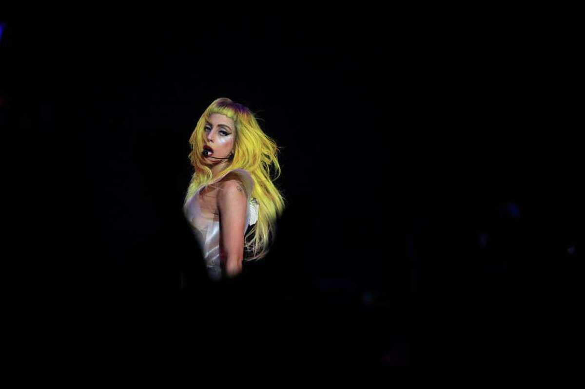 Lady Gaga performs 'Love Game' at the AT&T Center in San Antonio on March 15.